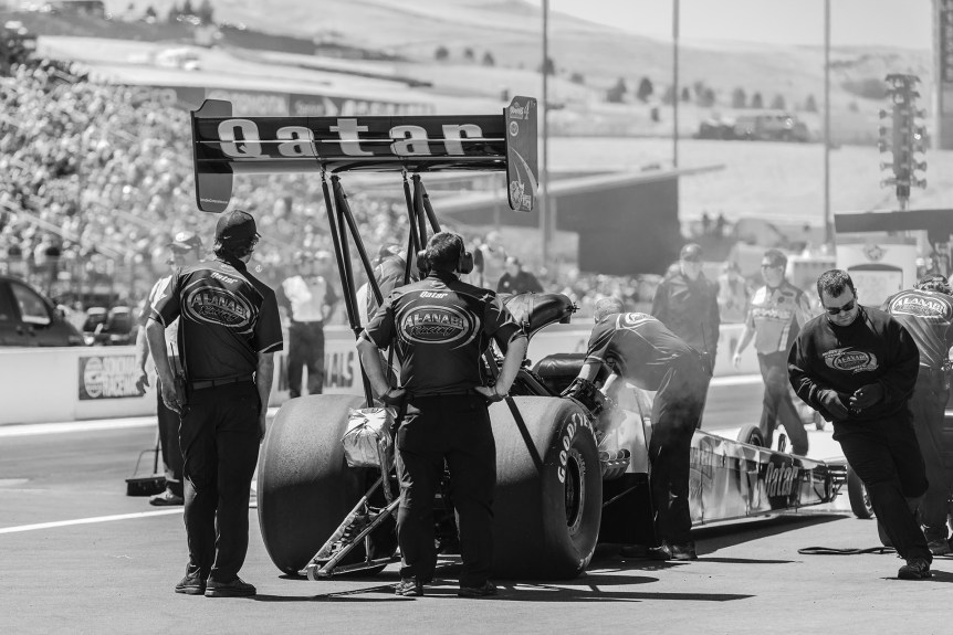 NHRA Black and White Photo