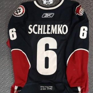 David Schlemko Game Worn Jersey