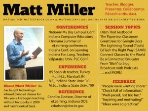 Matt Miller Indiana Department of Education Speakers Bureau slide