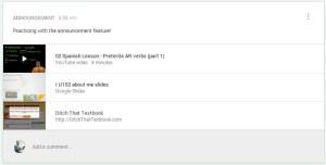 google classroom 2 announcements