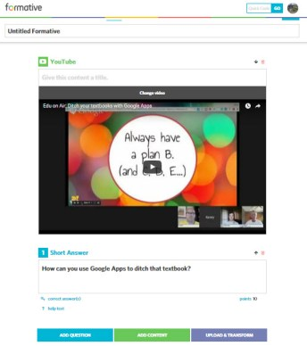 Add videos for students to watch. Then ask question to show comprehension.