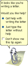 """Clippit (often called """"Clippy,"""" the Microsoft Office Assistant. (Used with permission from Microsoft.)"""