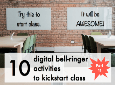 Bell-ringer activities don't have to be a slow start to class that students dread. Use these ideas to spice up your bell-ringers! (Public domain image via Pixabay.com)