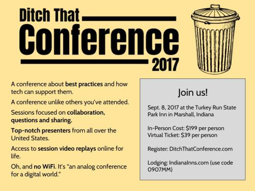 Ditch That Conference summary graphic 2017
