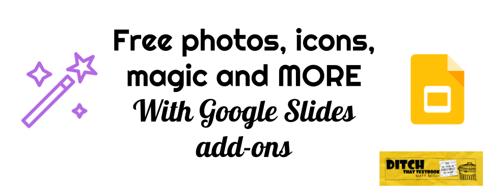 free photos icons magic and more with google slides add ons