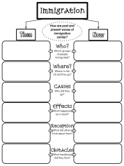 Immigration Graphic Organizer