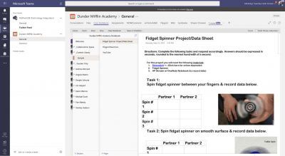 Interactive notebook with Powerpoint and OneNote