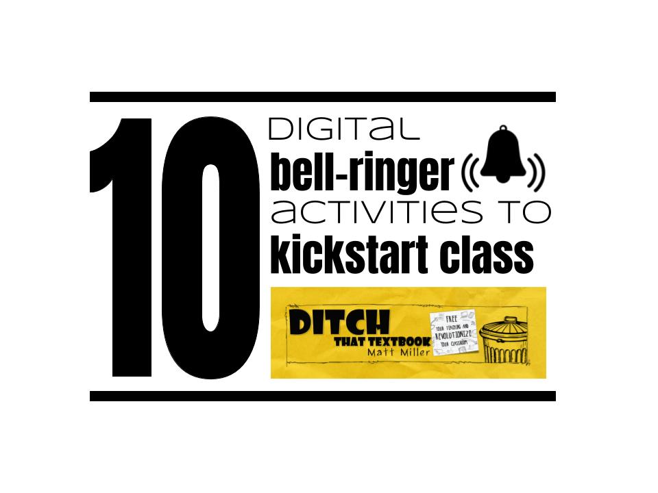 10 digital bell-ringer activities to kickstart class (Part 1