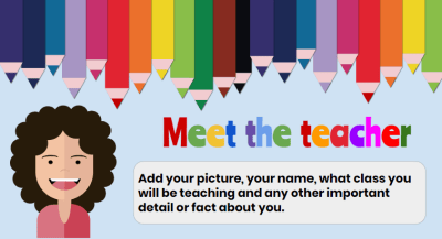 Introduce yourself. A Back to School Newsletter Template.