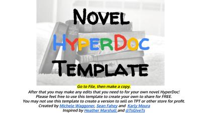 Novel HyperDoc Template