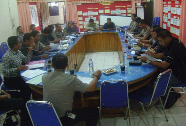 Rapat koordinasi di Aceh Tengg