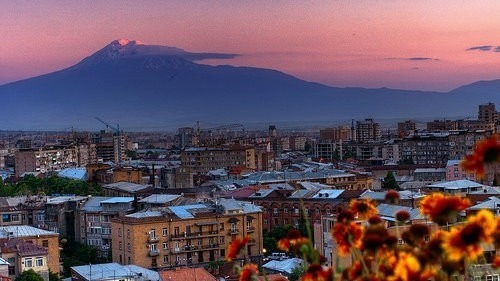A view of Mt. Ararat from Yerevan