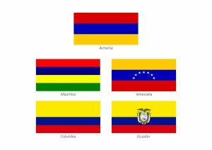 Flags that look like the Armenian flag