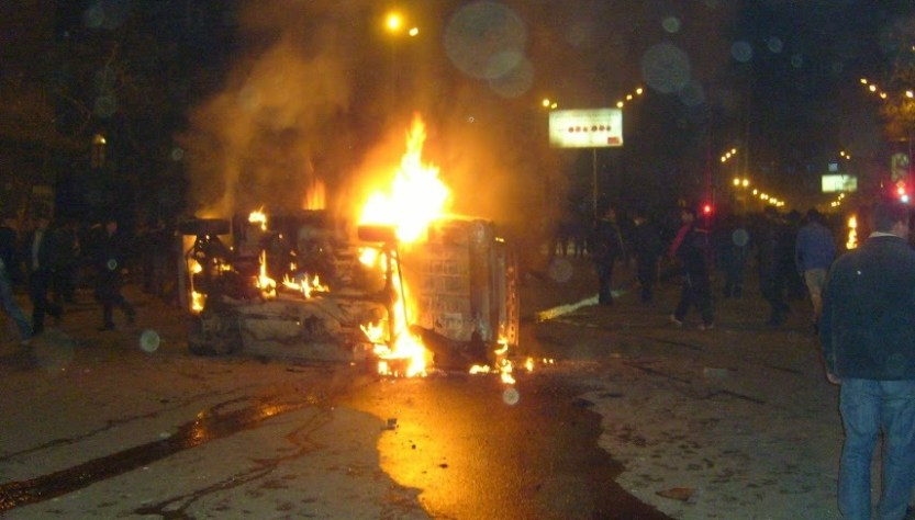 Armenia -- Violence in Yerevan, March 1, 2008