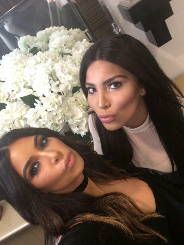 Kim Kardashian and Kamilla Osman