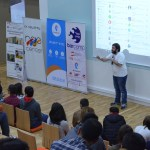 Antranig Vartanian speaking about secure chatting at Barcamp Vanadzor