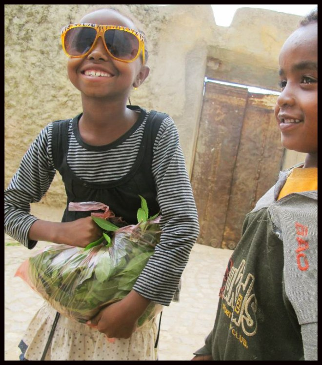 Møte med lille Hanna i  byen Harar