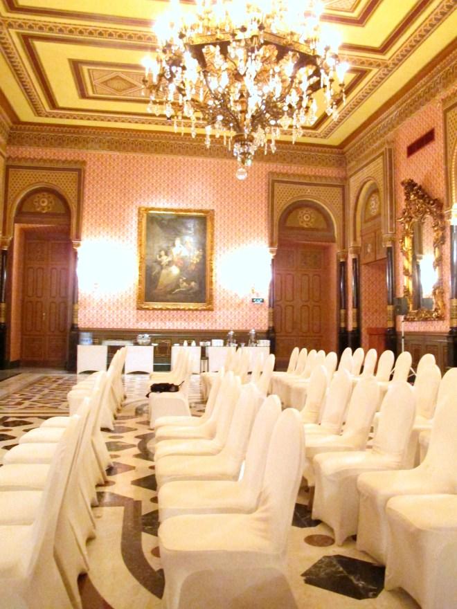 Pressenkonferansen foregikk på erverdige Hotell Marriott