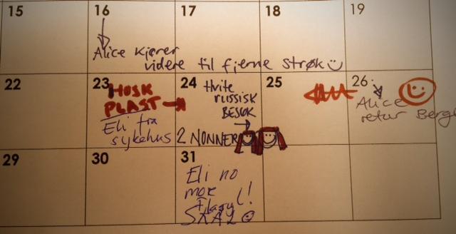 Kalenderen i kollektivet sier noe om aktiviteten
