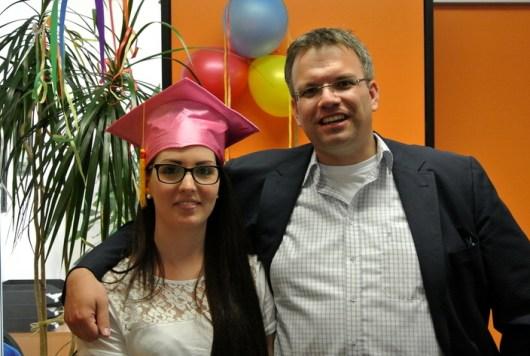 Ausbildung erfolgreich geschafft - Pia und Andreas im Juli 2013