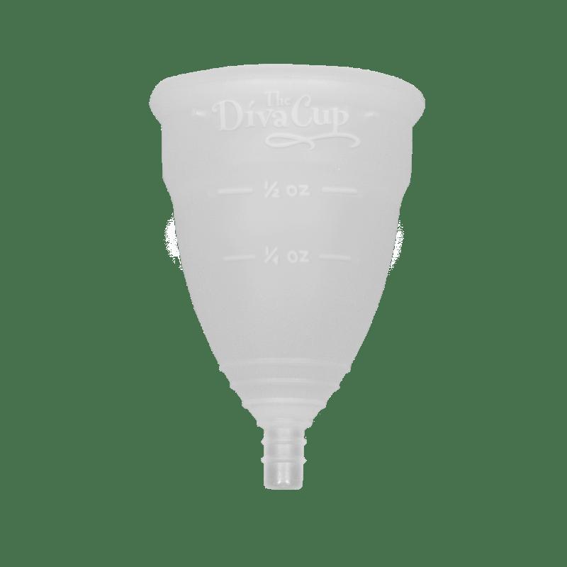 DivaCup oficial Modelo 2 con logotipo y líneas de medición