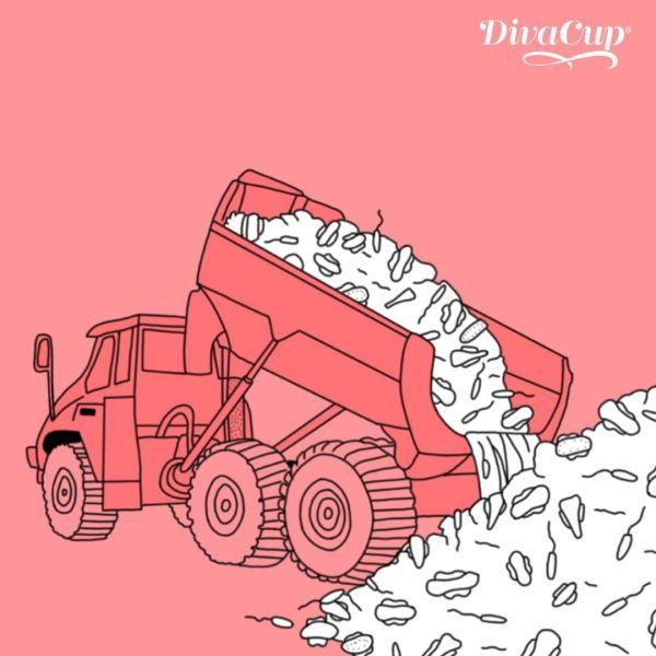 A lo largo de su vida, cada mujer que usa tampones y toallas femeninas genera unos 140 kilos de desperdicios que van a parar a los rellenos sanitarios.