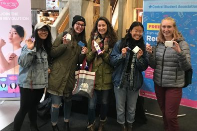 DivaCups being held up by students at University of Guelph