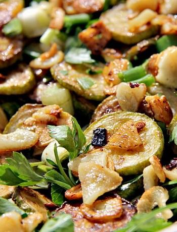 garlic zucchini salad