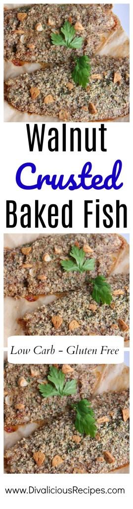 walnut baked fish