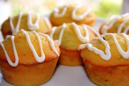 lemon basil muffins