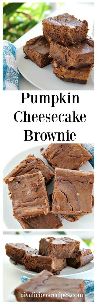 pumpkin cheesecake brownie