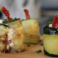 stuffed zucchini rolls