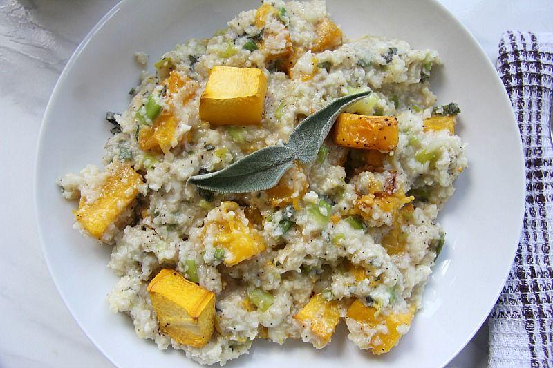 pumpkin cauliflower risotto