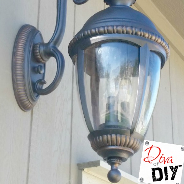 easy diy outdoor light makeover