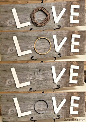 DIY Wooden Letters for a Reclaimed Wood Love Sign   Diva of DIY Reclaimed wood projects fit perfect with farmhouse style decorating  These  diy wooden letters are the