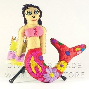 Mermaid - 100% Natural Wool Stuffed Toy Woolly Amigos