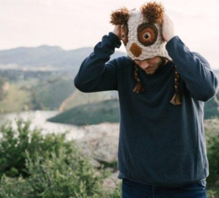 Barn Owl, Unisex Alpaca Blend Animal Hats for the whole family