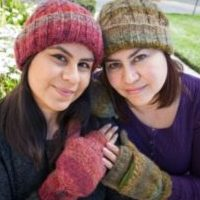 Funky Cable style Hat,, Alpaca Blend winter Hats for the whole family