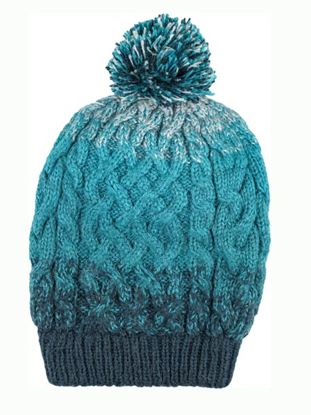 PomPom Hat, Teal, Alpaca Blend, winter Hats for the whole family