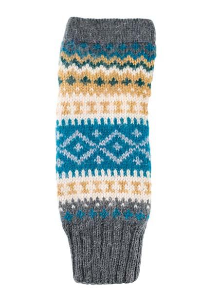 Sierra Arm Warmer, Aqua, Alpaca Blend, winter wrist warmers for the whole family