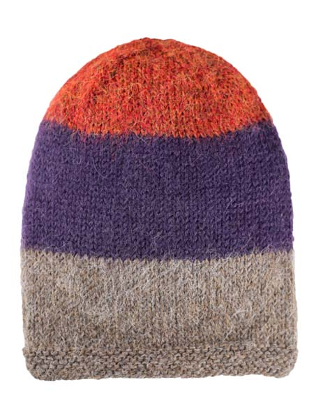 Multithree Hat 100% Alpaca, Grape, winter Hats for the whole family