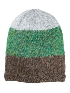 Multithree Hat 100% Alpaca, Green, winter Hats for the whole family