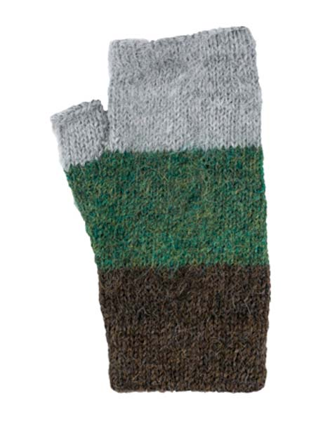 Multithree Arm Warmer, Green, 100% Alpaca, winter wrist warmers for the whole family