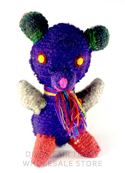Bear 100% Natural Wool Stuffed Toys Woolly Amigos