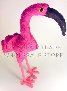 Flamingo 100% Natural Wool Stuffed Toys Woolly Amigos