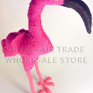 Flamingo 100% Natural Wool Stuffed Toys Woolly Amigos
