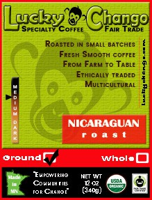 Fair Trade Organic Certified Nicaraguan Coffee Lucky Chango Specialty Coffee