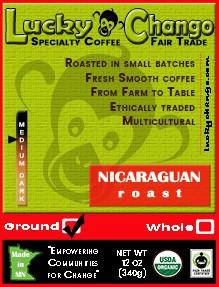 Fair Trade Organic Certified Nicaraguan Coffee Lucky Chango Specialty Coffee