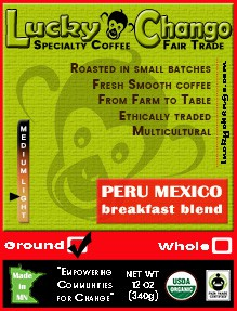 Fair Trade Organic Certified Breakfast Blend Coffee Medium Light Lucky Chango Specialty Coffee