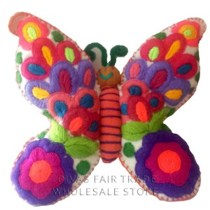 Butterfly 100% Natural Wool Stuffed Toys Woolly Amigos